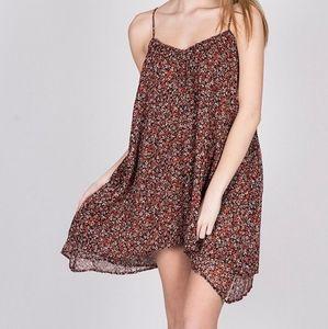 EUC Volcom Floral Flowy Dress Sz L